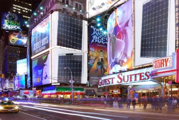 Solar Panels Times Square